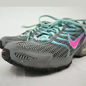 Nike Women's 9 Teal Pink Gray Mesh Tennis Shoe